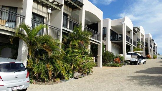 The Point Coolum Beach: white villas
