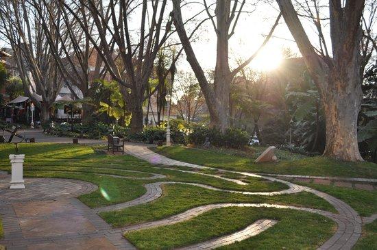 Sunset over our lovely gardens