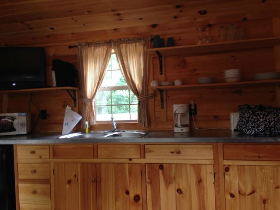 Twin Grove RV Resort & Cottages : Kitchenette - H24 Cottage has Microwave and Small Refrigerator