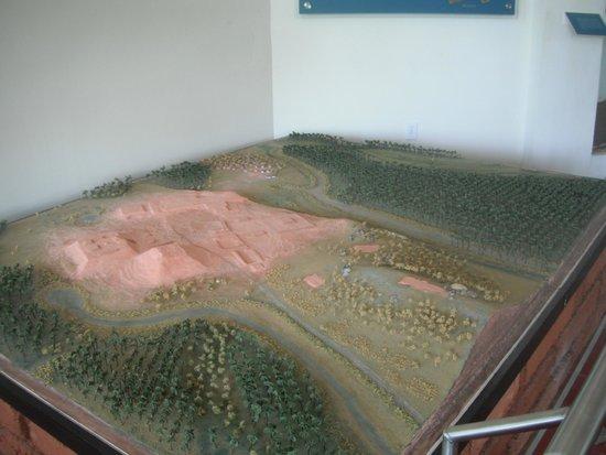 Xihuacan Museum and Archeological Site: VISTA  MAS AMPLIA DE LA MAQUETA