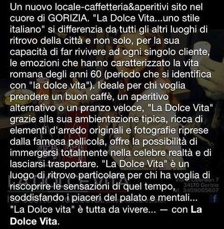 La Dolce Vita...uno stile italiano : Descrizione locale