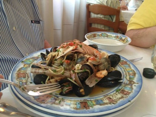 Pasta With Seafood Picture Of Al Gatto Nero Da Ruggero Burano