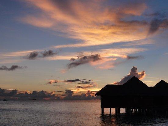 Baros Maldives: Water villa sunset