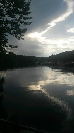 Bronston, KY: Sunset at Lake Cumberland from the Dock