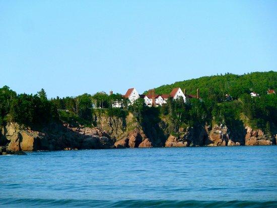Keltic Lodge Resort & Spa : View of lodge from Ingonish Beach