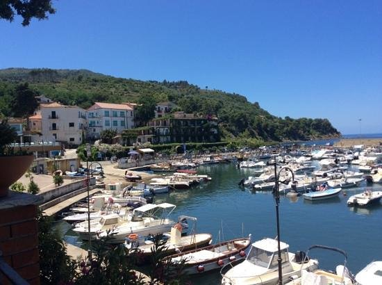 Approdo Resort: view of hotel and harbour