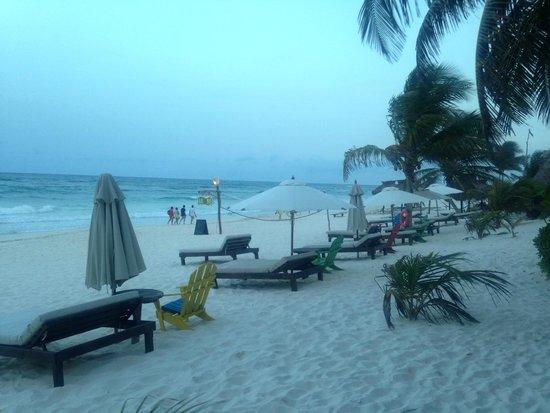 Cabanas La Luna: Beautiful Beach