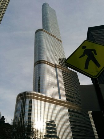 Trump International Hotel & Tower Chicago: Outside view of hotel in the evening.