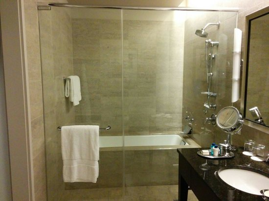 Trump International Hotel & Tower Chicago: Shower and bath tub area.