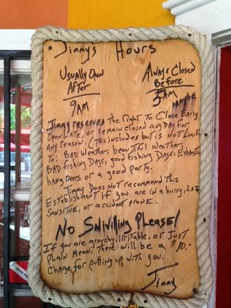 Jimmy's Dive Bar : Pretty much sums it up... awesome
