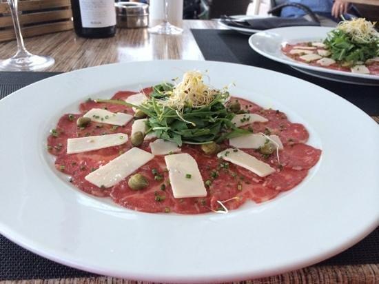 Restaurante La Fontana: Carpaccio starter.... amazing !