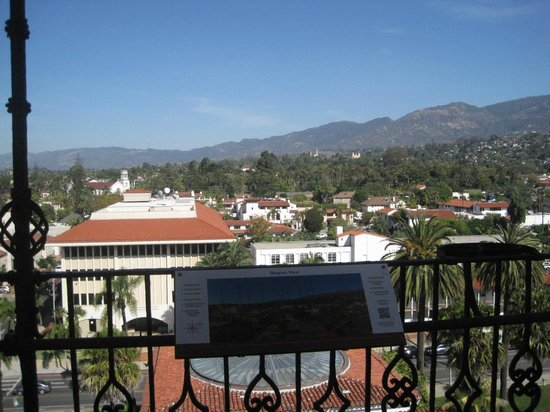 Santa Barbara County Courthouse: View looking north from Courthouse tower.