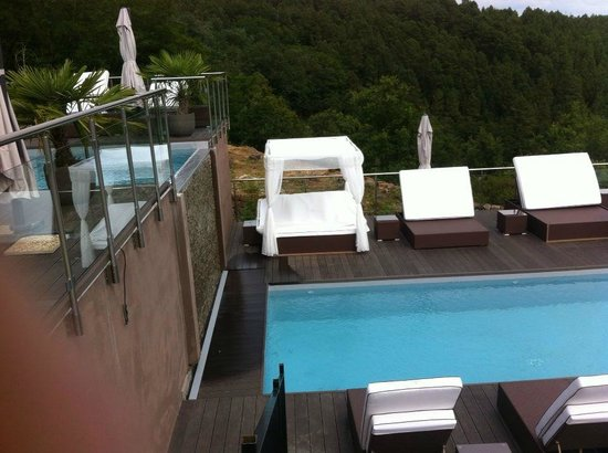 piscine d bordement picture of domaine de chalveches. Black Bedroom Furniture Sets. Home Design Ideas