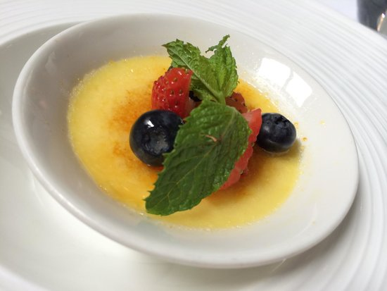 TRB: Crème Brûlée, Seasonal Fruits