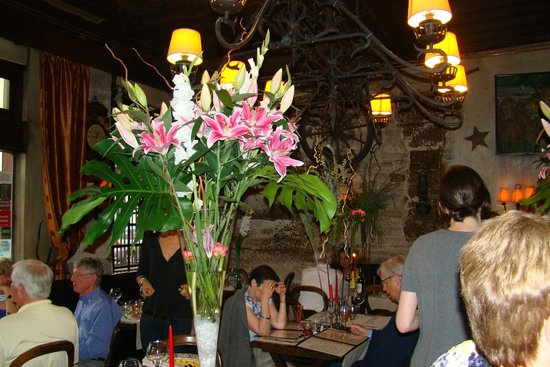 Inside L'ilot Vache--the flowers were beautiful.