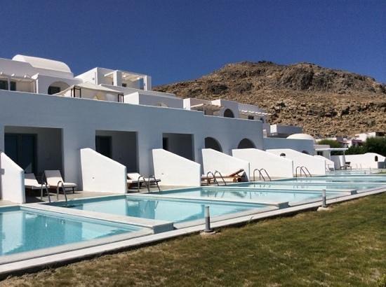Camere con piscina privata foto di lindos sun hotel - Hotel con piscina privata grecia ...