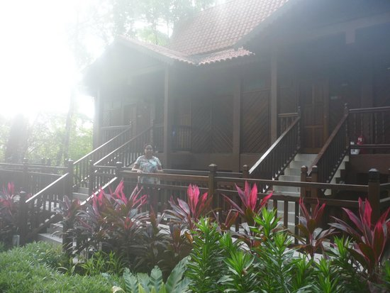 Berjaya Langkawi Resort - Malaysia: in front of one of the other cottages that we took