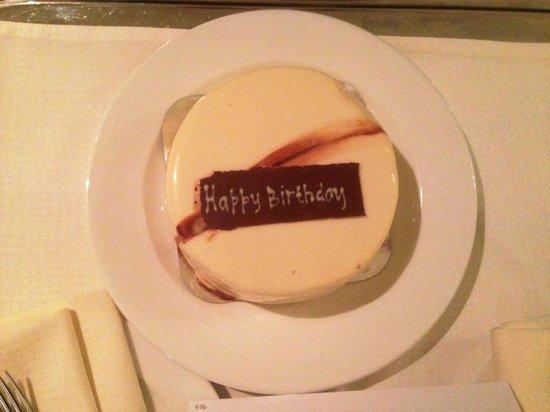 Le Royal Meridien Beach Resort & Spa: Birthday cake