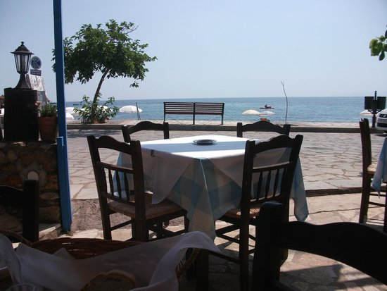 Avli tis Theanos : View from our table.