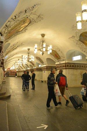 Metro Moskau: una galeria de arte