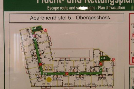 Adina Apartment Hotel Hamburg Michel: Raumplan
