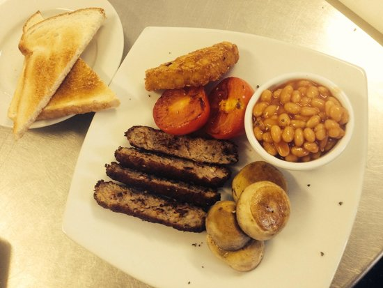 Pappa Caffs: Linda Mcartney vegan breakfast