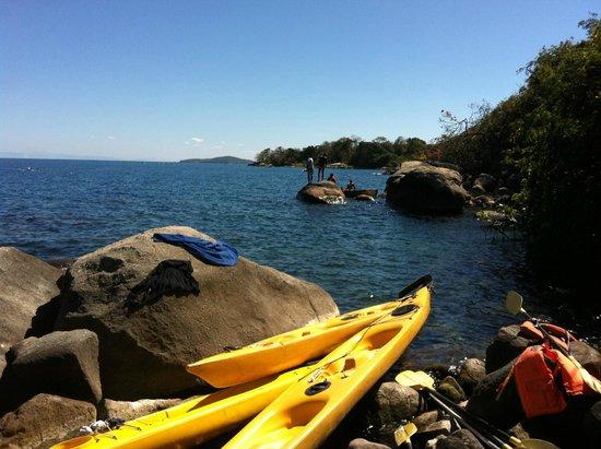 Thumbi View Lodge: Kayaking around Thumbi