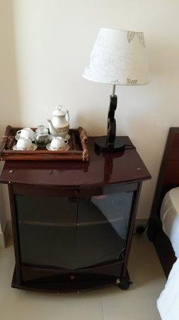 Hoi An NGO Homestay: table with tea