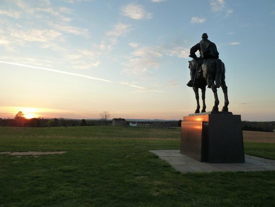 Manassas, VA: Stonewall forever stands over this battlefield.