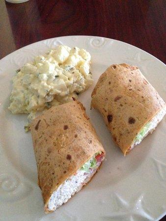 Home Port Restaurant & Pub: Chicken Salad wrap