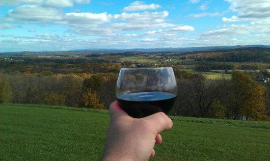New Jersey Adventure Tours: A glass of red in scenic Sussex County!
