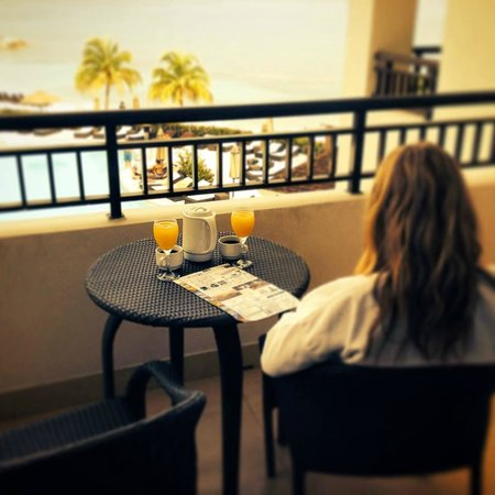 Secrets Wild Orchid Montego Bay: Enjoying coffee and mimosa's from our amazing view