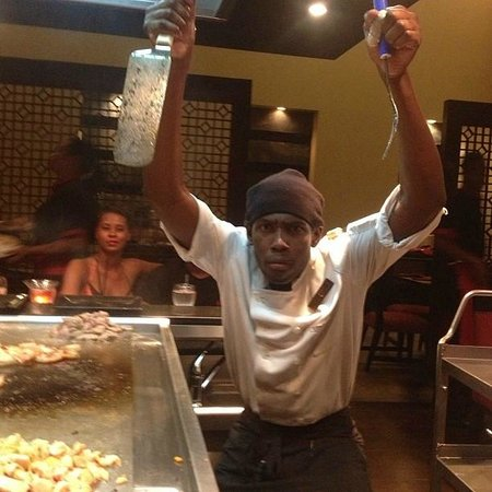 Secrets Wild Orchid Montego Bay: Hibachi Chef - ask him about muscrats