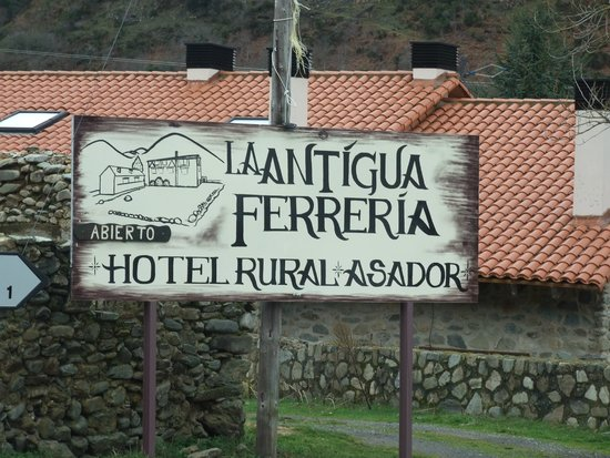 La Antigua Ferreria Hotel Rural: cartel indicador