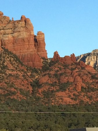 Red Rock BBQ : A view from the outside deck, Snoopy Rock