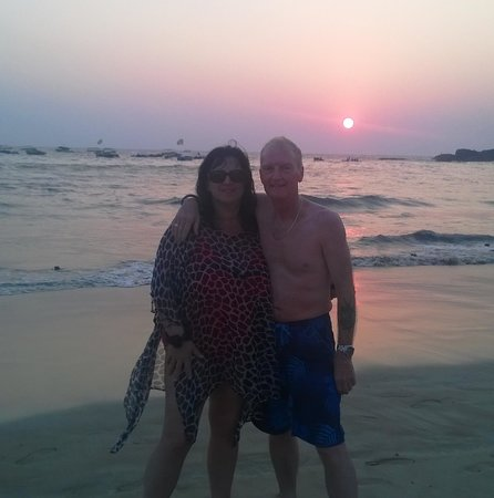 Sheila and I at Baga sunset