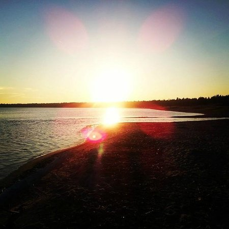 Sunset on the beach at Providence Bay, just a short walk from Auberge Inn.