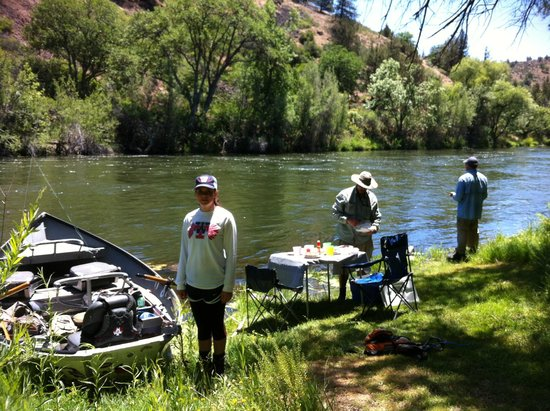 Jack Trout Fly Fishing: Our lunch break