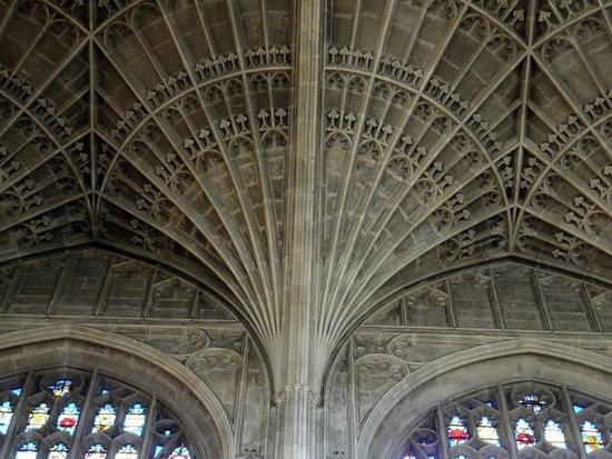 King's College Chapel : détail de la voûte