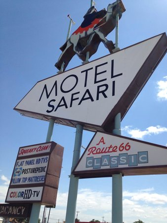 Motel safari sign