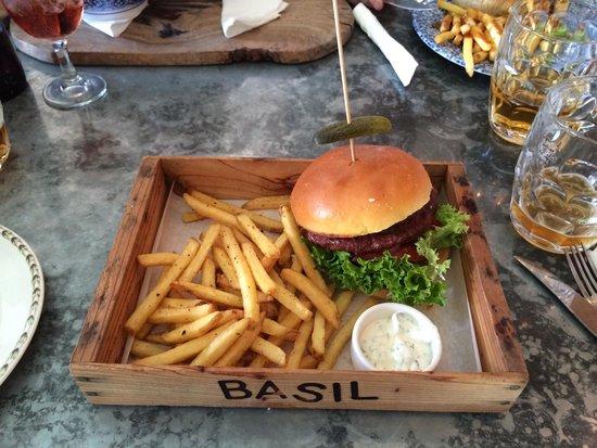 The Botanist: Lamb burger & chips
