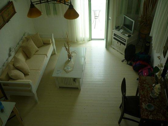 Tholaria Boutique Hotel Astypalaia: view from mezzanaine