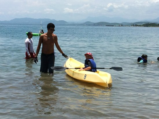 Club Med Ixtapa Pacific: kayaking on the ocean