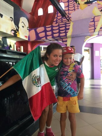 Club Med Ixtapa Pacific: our youngest cheering for Mexico during the World Cup