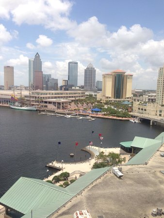 The Westin Tampa Waterside: View of Tampa Bay Harbour from 11th floor room