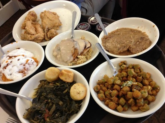 Southern Special: Fried Chicken, Roast Pork, Cube Steak - Picture ...
