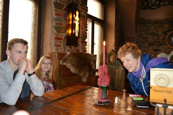 Keltska Krcma : Our family having a seat, felt like we went back 700 years