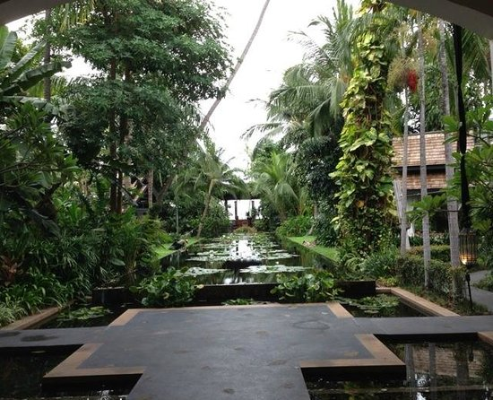 Anantara Bophut Koh Samui Resort : This is the most favorite perspective when get into the hotel.