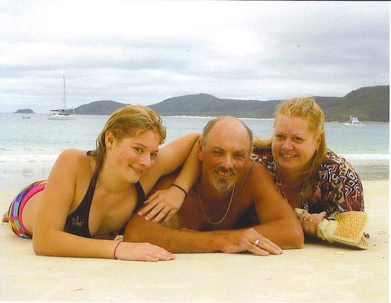 my family on Whitehaven beach