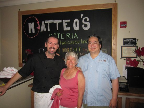 Matteo's Osteria: Owner/Chef Matteo wished us a happy 36th Anniversary